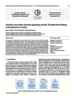 Adaptive maritime domain planning model: Transferable fishing concessions in Croatia