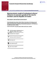 prikaz prve stranice dokumenta Macroeconomic model of institutional reforms' influence on economic growth of the new EU members and the Republic of Croatia